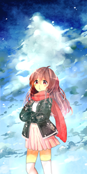 skies are pretty but im more prettier by akarurii