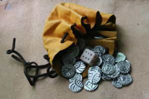 Anglo-saxon pouch and die by Dewfooter