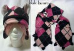 Tartan Beanie and Scarf set PINK by BlakBunni