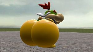 Bowser Jr Butt Inflation by paul316pa