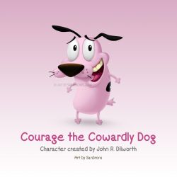 Courage the cowardly dog redesign in 3D look by sanbrons