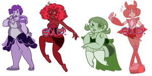 (S)Pearl Adopt Clearout: 2/4 OPEN by ghostlymoon-adopts