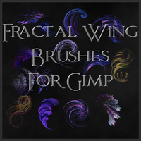 Fractal Wing Brushes for Gimp by Xavasia