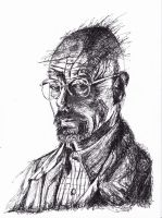 Breaking Bad- Walter White Fan Art in Squiggle Ink by LorraineKelly