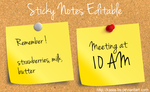 Sticky Notes Editable by kasia-lis