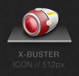 X-Buster Icon 512px PNG - Megaman X - Rockman X by apttap