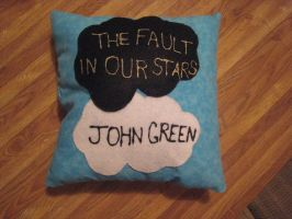 TFiOS Pillow (Side 1) by CATSAREGREAT