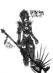 Concept Sketch: Kit'khel'shyn by The-Beautiful-Sin