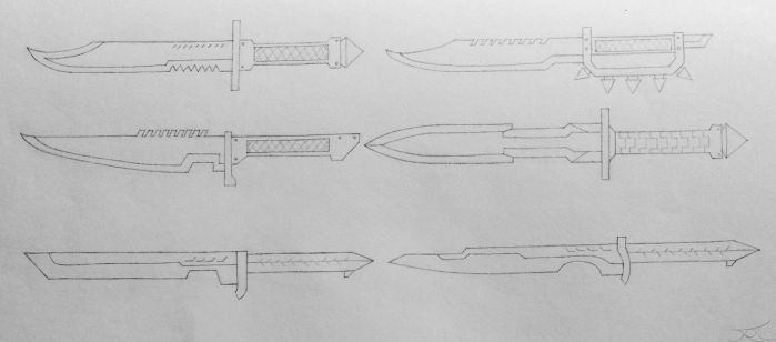 Combat Knife Concepts (Project A) by AngelOfNope