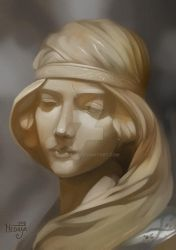 STUDY: Bust of a Maiden by Medaya