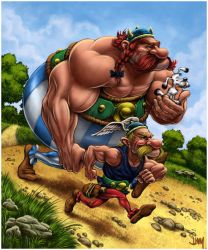 Asterix and Obelix by Jamesonarts
