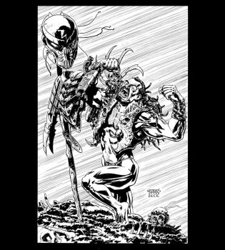 Kraven/ Predator by ScottCohn