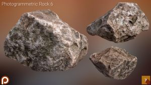 [Free] Photogrammetric Rock 6 by Yughues