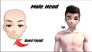 MMD Male/Man Face Edit +DL by SachaShan