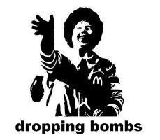 Akri dropping bombs stencil by des-frontal