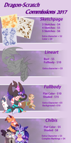 Commission Sheet 2017 2 by Dragon-Scratch