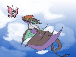 Noivern and Vivillon