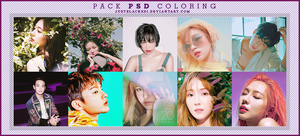 PACK PSD COLORING  by justblackssi by justblackssi