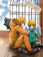 SP : Kenny and Butters 02 by sakurapanda