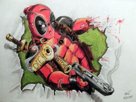Deadpool, escapte to the real world by killswitch90