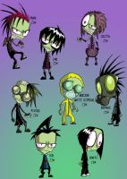 Dressed up Zim by Spaffi