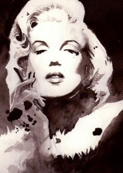 Ink Stained Marilyn by Mierin91
