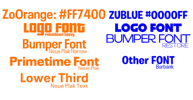 Zoomer and Zublue Style Guide by Kyooshi4000DA