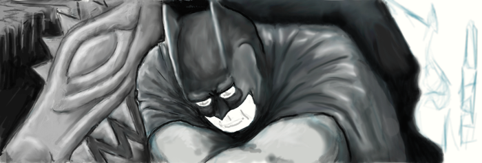 Batman Catches A Cat Nap by TheDoLittle
