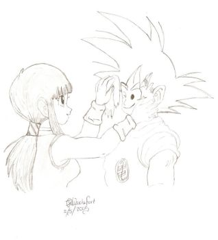 Chi-chi and Goku by Shenra009