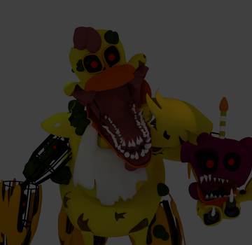 Cartoon Twisted Chica by RetardLord