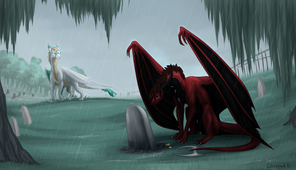 Lost friend by WrappedVi