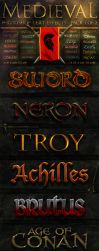 Medieval Text Effect 1 of 2 by fluctuemos