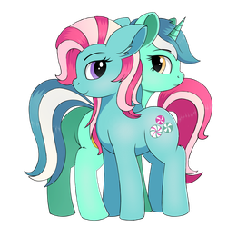 Minty and Lyra by negasun