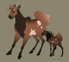Stantler Doe and Calf concept