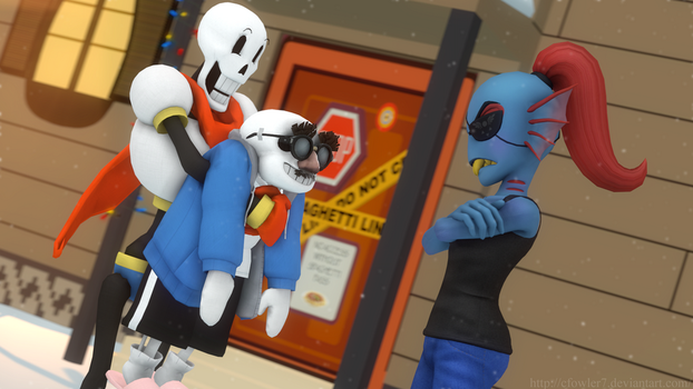 Undertale - Caught a human! by cfowler7-SFM