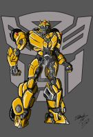 TFM Reboot Bumblebee with a mouth  by ArtessZeroWolfSketch