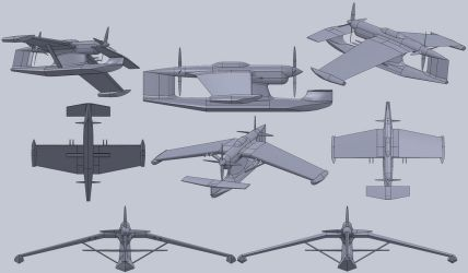 Canard Seaplane Fighter by RRaillery