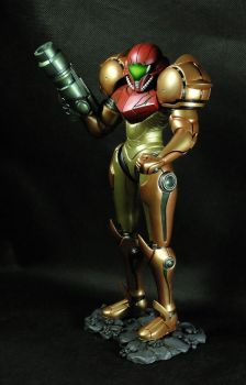 She's Here! (Samus Varia Suit Sculpt) by The-Stuffitect