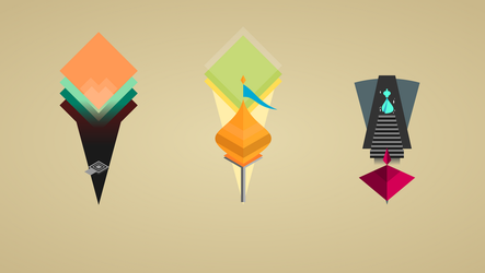 Monument Valley - Desktop Clock WIP 1 by texasellipses