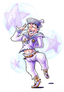Bubbly Boy Josuke by Pickledsuicune