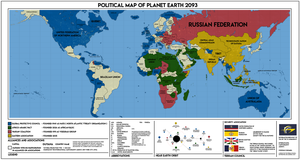 Chapter I: Political Map of the Planet Terra 2093 by Concleror
