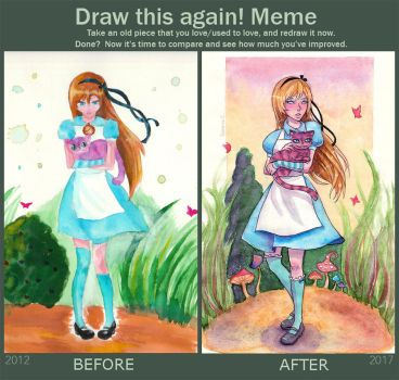 Draw This Again: Alice and Cheshire Cat by Serenyan