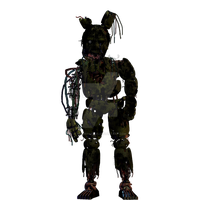 Five Nights at Freddy's- Burned Springtrap FanMade by GoldenNexus