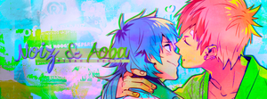 [#2] Facebook Cover: NoiAo/Noiz x Aoba by AlezeaRoss