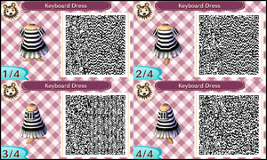 ~Animal Crossing~ QR Codes - Keyboard Dress by sakurablossom143