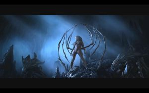 Starcraft 2 wallpaper 3 - Kerrigan by elite-hunter
