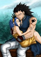 Gajeel and Levy-I protect you by syren007