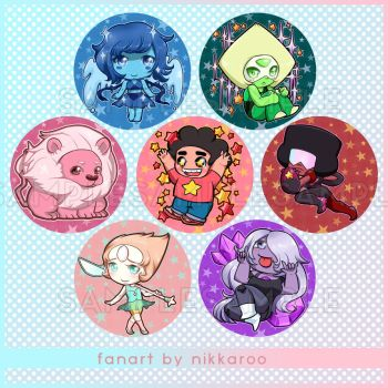 Button Badges || Steven Universe by nikkaroo