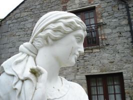 Cabra Castle courtyard. by theceruleancreep