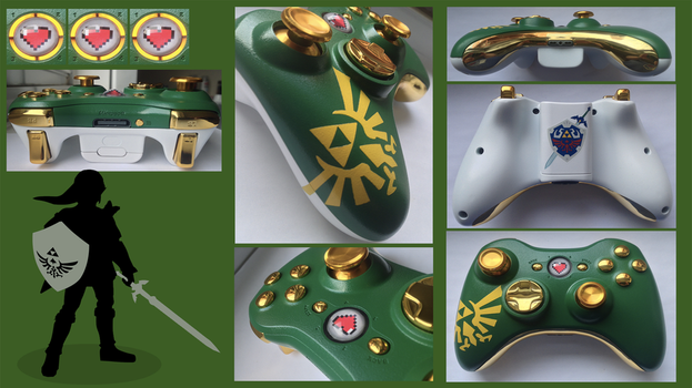 The Legend of Zelda Custom Xbox 360 Controller by CARDI-ology